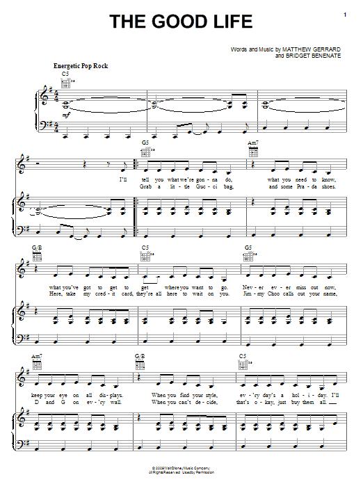 The Good Life sheet music