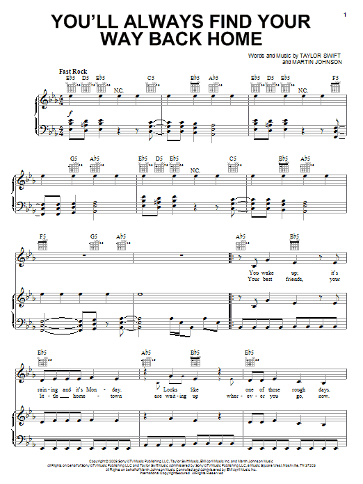 You'll Always Find Your Way Back Home sheet music