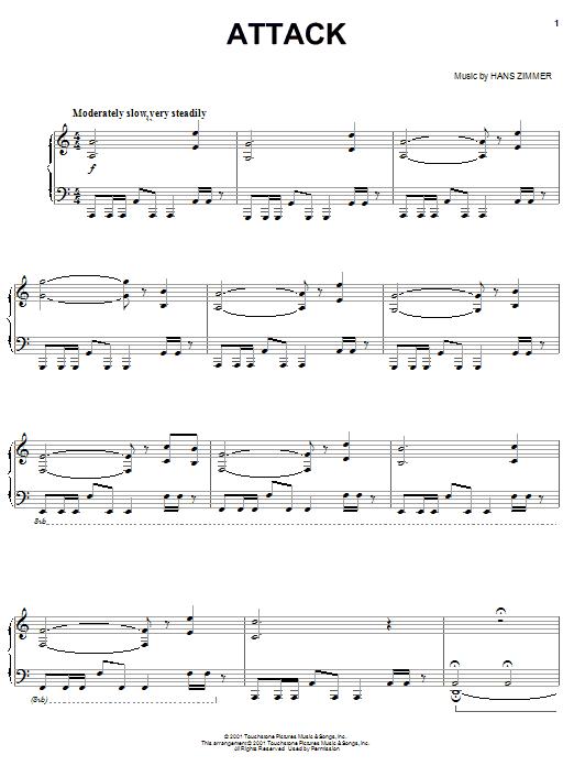 Attack sheet music