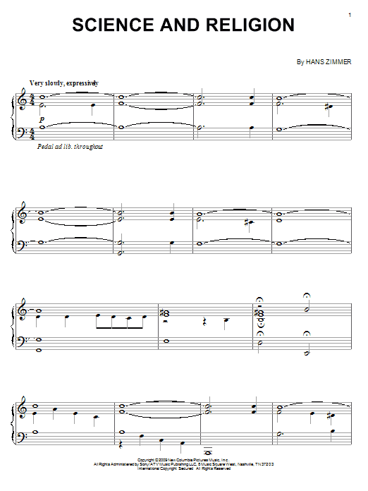 Science And Religion sheet music