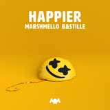 Download Marshmello & Bastille 'Happier' printable sheet music notes, Pop chords, tabs PDF and learn this Super Easy Piano song in minutes