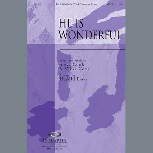 He Is Wonderful - Alto Sax (Horn sub.) sheet music