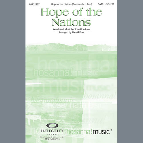 Hope Of The Nations - Harp sheet music