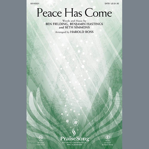 Harold Ross, Peace Has Come - Cello, Choir Instrumental Pak