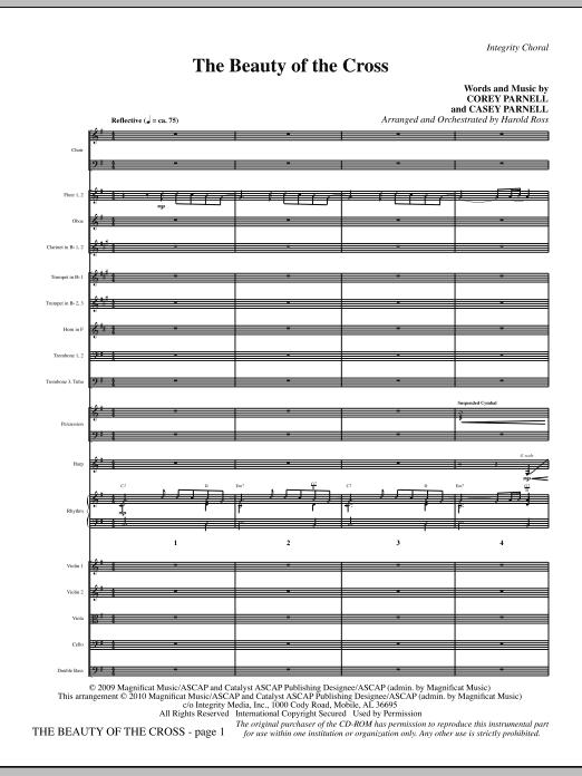 The Beauty Of The Cross - Full Score sheet music