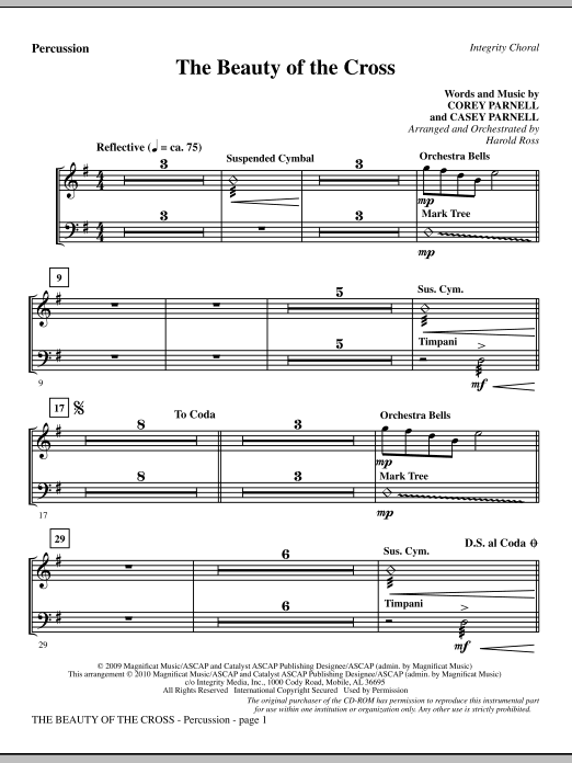 The Beauty Of The Cross - Percussion sheet music