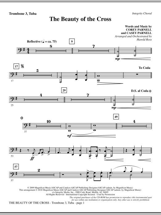 The Beauty Of The Cross - Trombone 3/Tuba sheet music