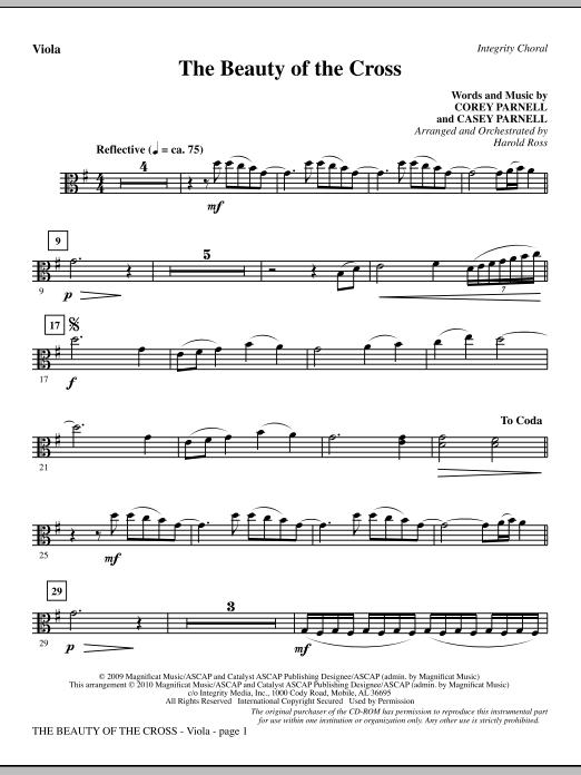 The Beauty Of The Cross - Viola sheet music
