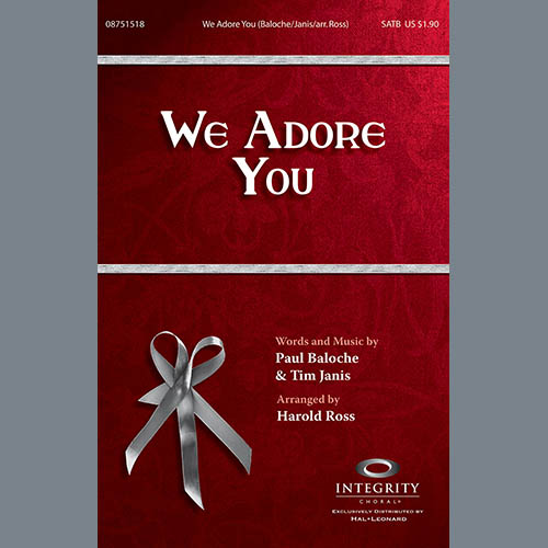 Harold Ross, We Adore You - Full Score, Choir Instrumental Pak