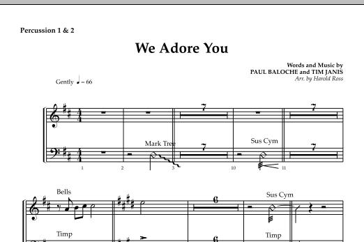 We Adore You - Percussion 1 & 2 sheet music