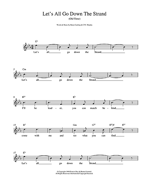 Let's All Go Down The Strand sheet music