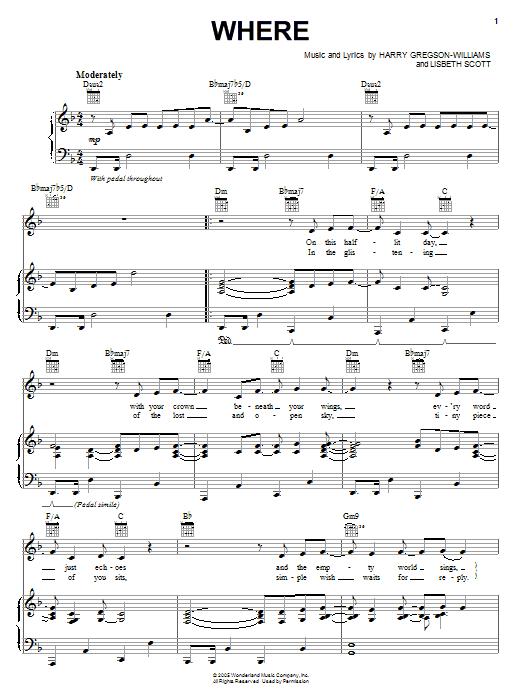 Where sheet music