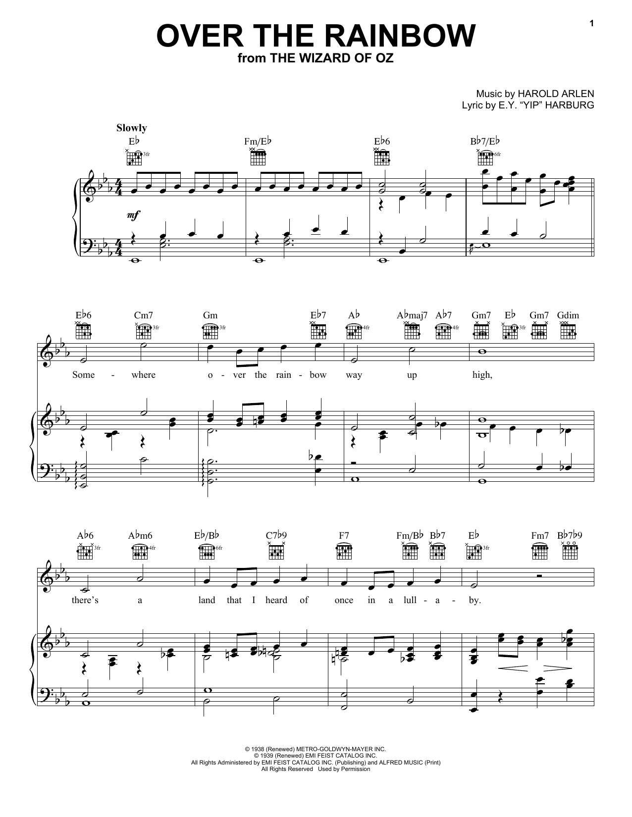 Over The Rainbow sheet music