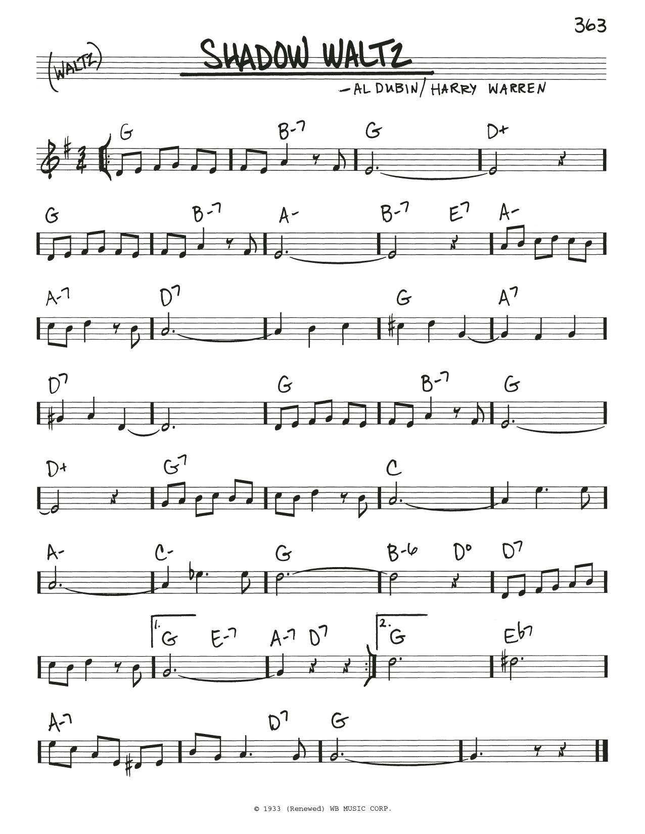 Shadow Waltz sheet music