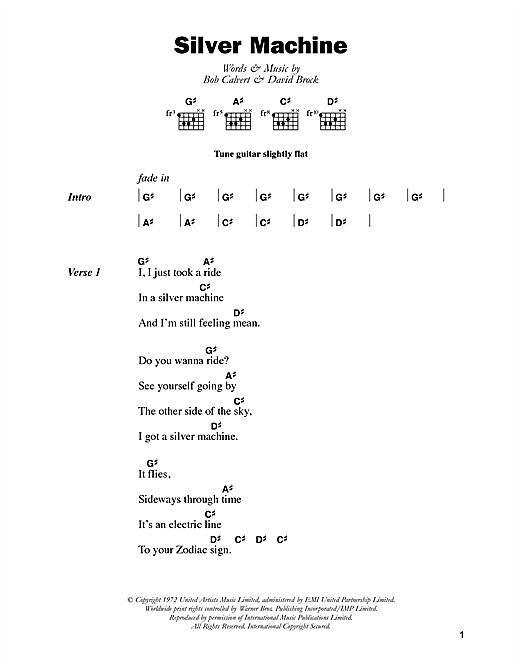 Silver Machine sheet music