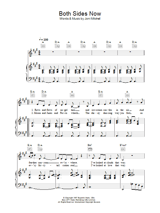 Both Sides Now sheet music
