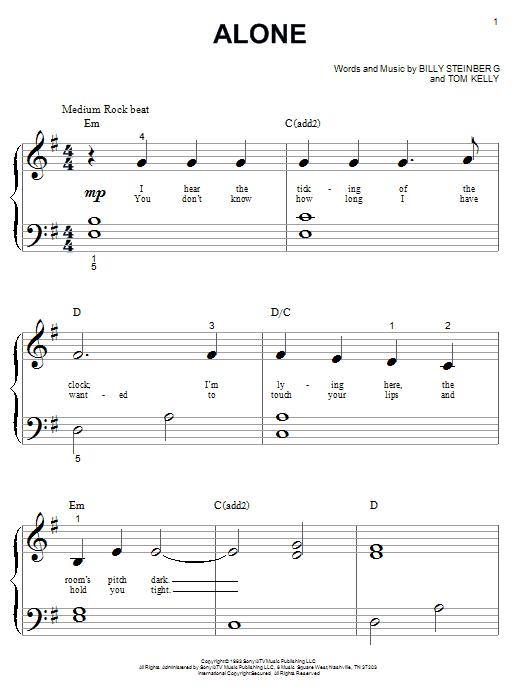 Alone sheet music