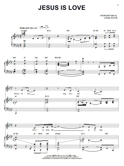 Jesus Is Love sheet music