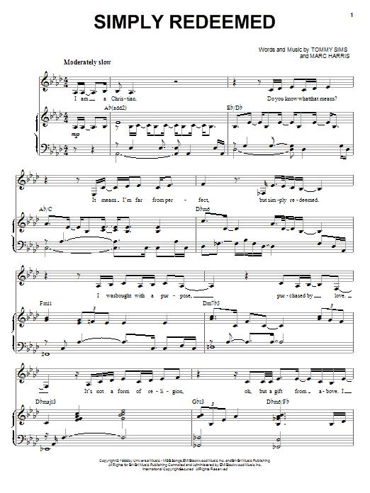 Simply Redeemed sheet music