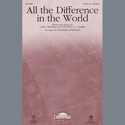 Heather Sorenson, All the Difference in the World - Keyboard String Reduction, Choir Instrumental Pak
