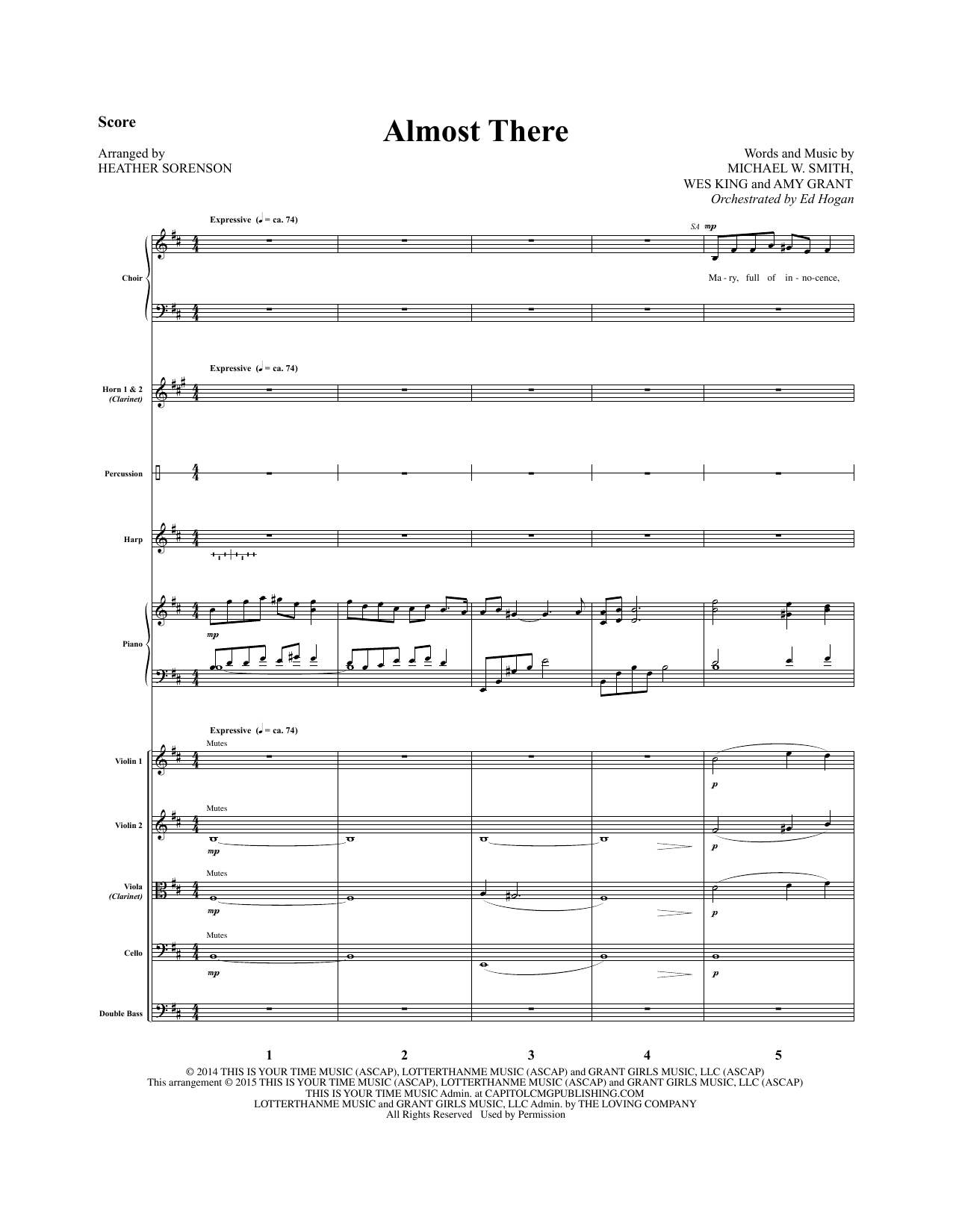 Almost There - Full Score sheet music