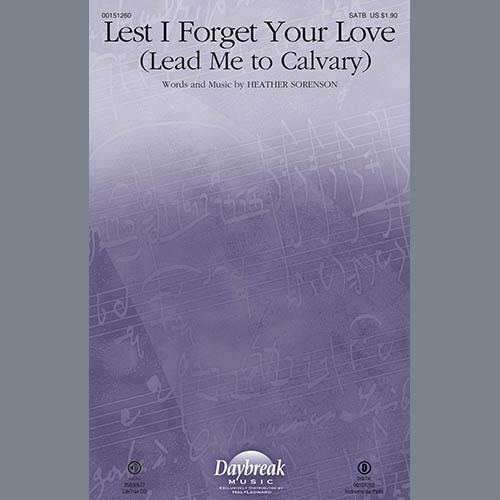 Heather Sorenson, Lest I Forget Your Love - Cello, Choir Instrumental Pak