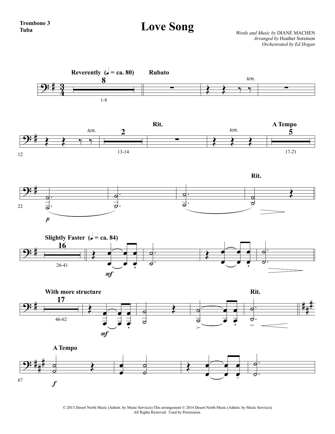 Love Song - Trombone 3/Tuba sheet music