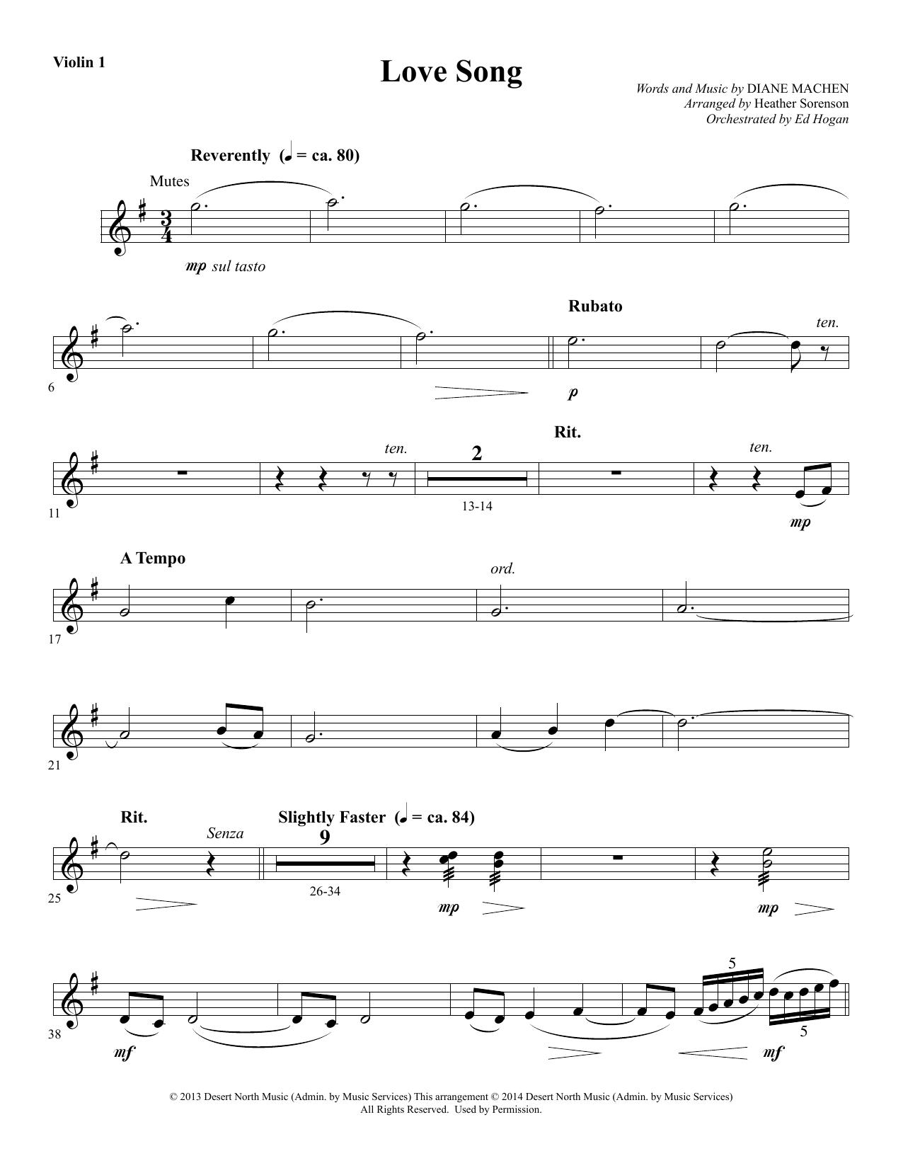 Love Song - Violin 1 sheet music