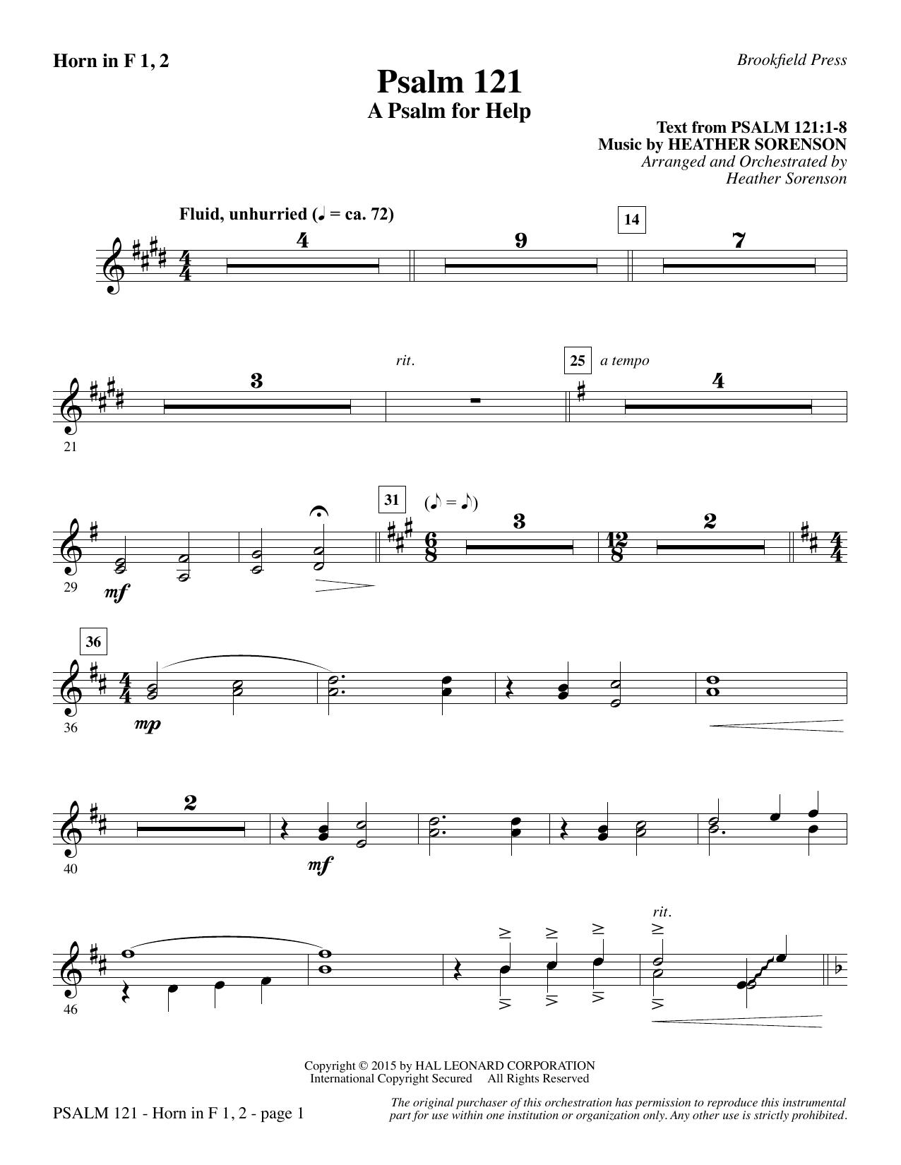 Psalm 121 (A Psalm For Help) - F Horn 1 & 2 sheet music