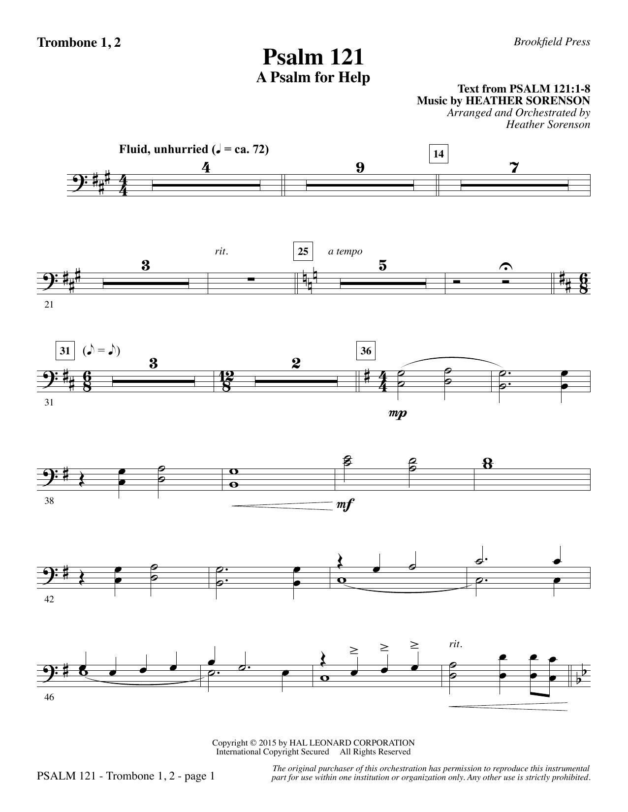 Psalm 121 (A Psalm For Help) - Trombone 1 & 2 sheet music