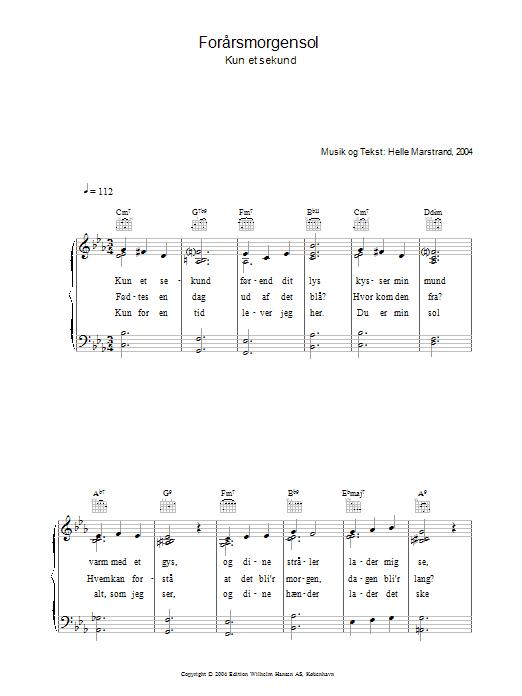 Forårsmorgensol sheet music