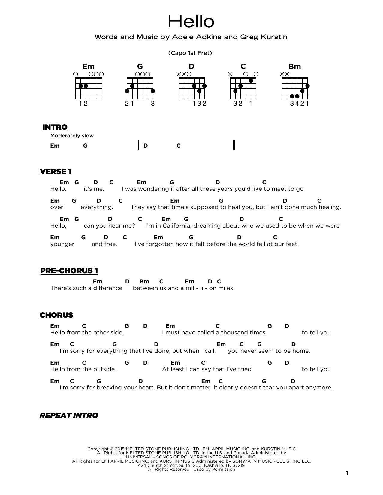 Lionel Richie Hello Sheet Music Download Pdf Score 439120