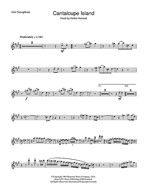 Cantaloupe Island sheet music