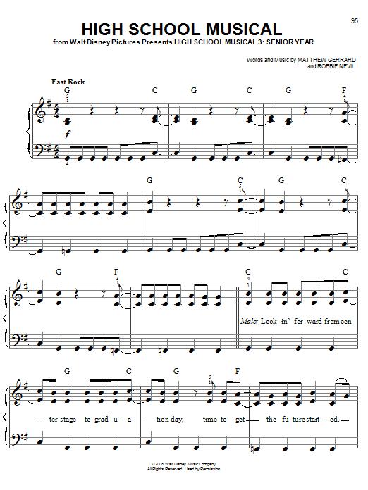 High School Musical sheet music