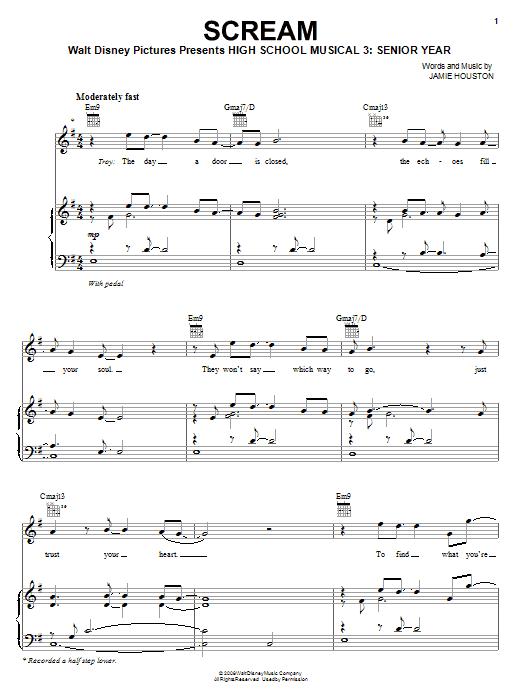 Scream sheet music