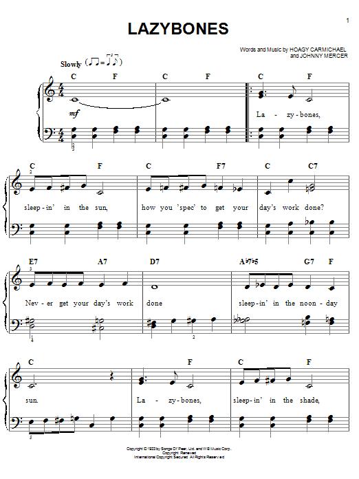 Lazybones sheet music