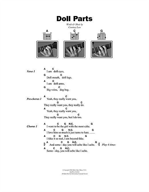 Doll Parts sheet music