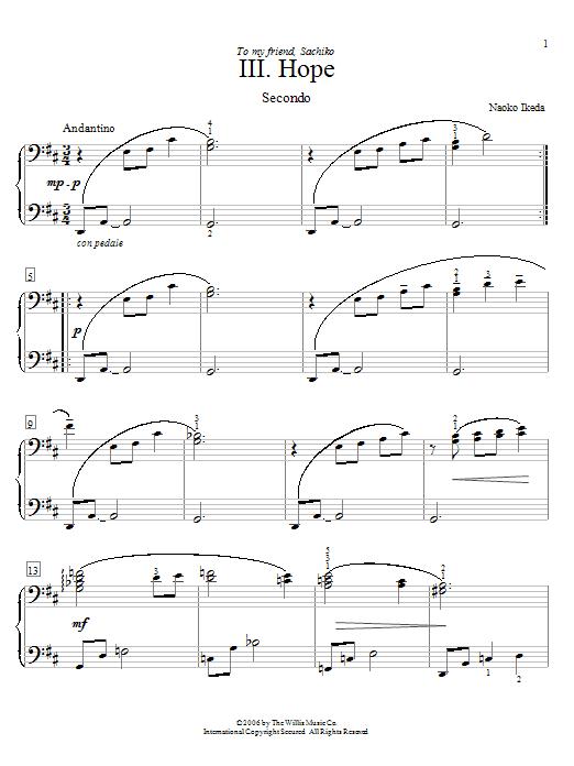Hope sheet music