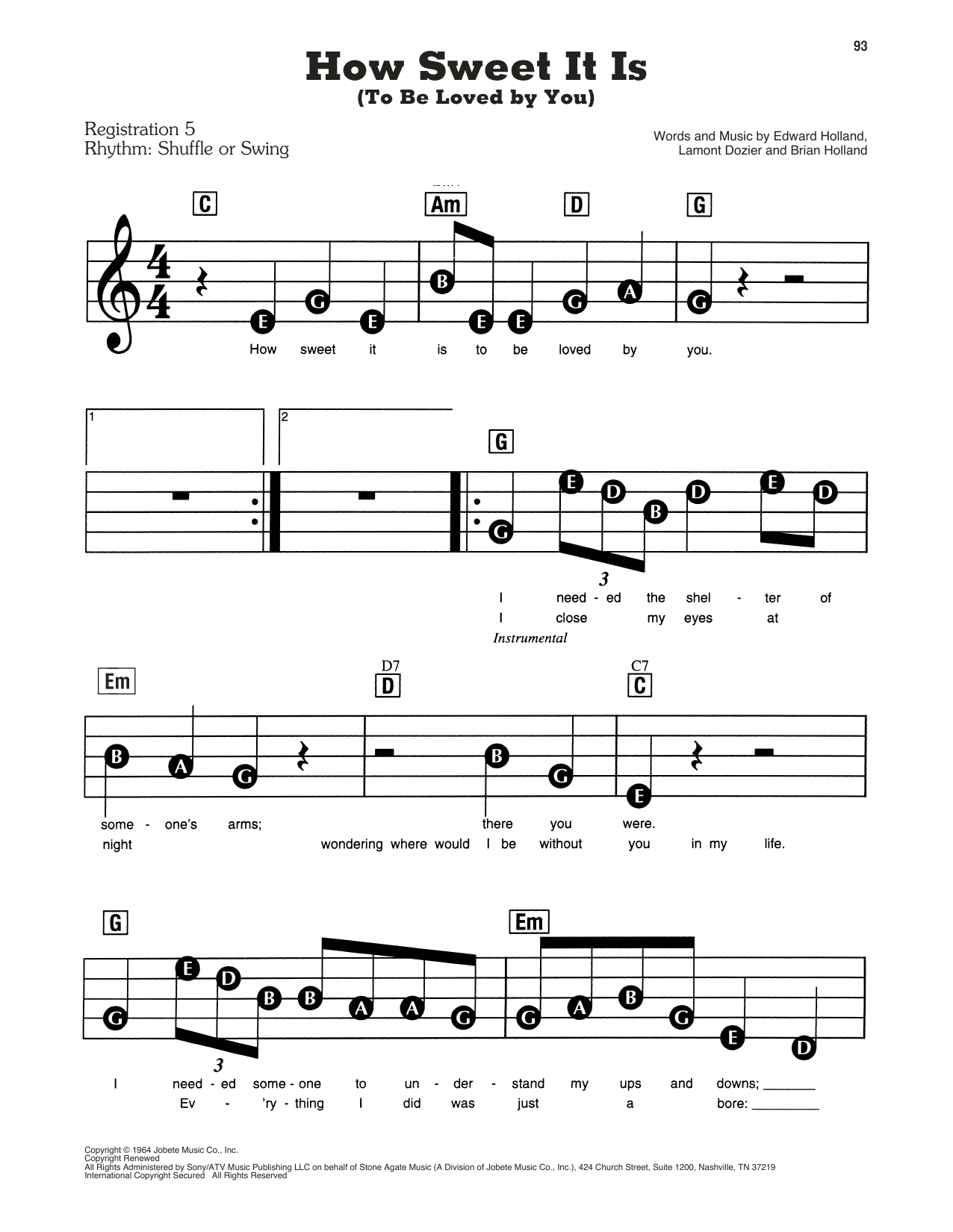 Deke Sharon 'How Sweet It Is To Be Loved by You' Sheet Music Notes,  Chords   Download Printable Choral   SKU 15