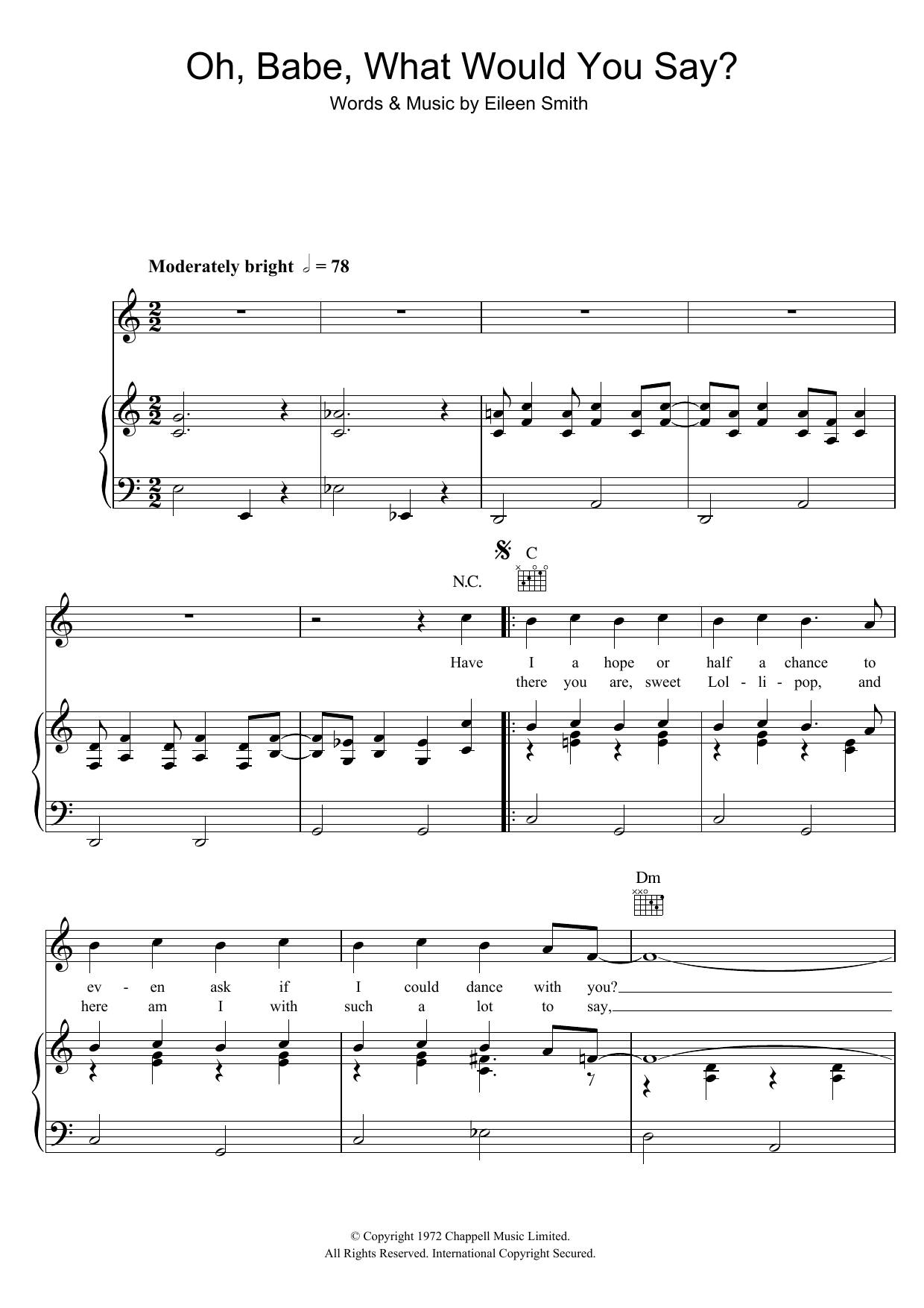 Oh, Babe, What Would You Say? sheet music