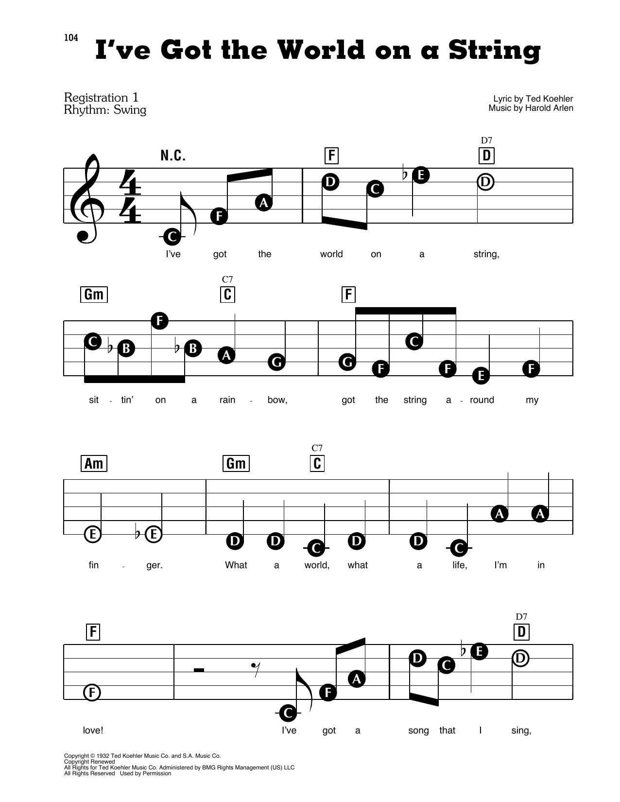 "Dick Hyman ""I've Got The World On A String"" Sheet Music | Download PDF  Score 408655"