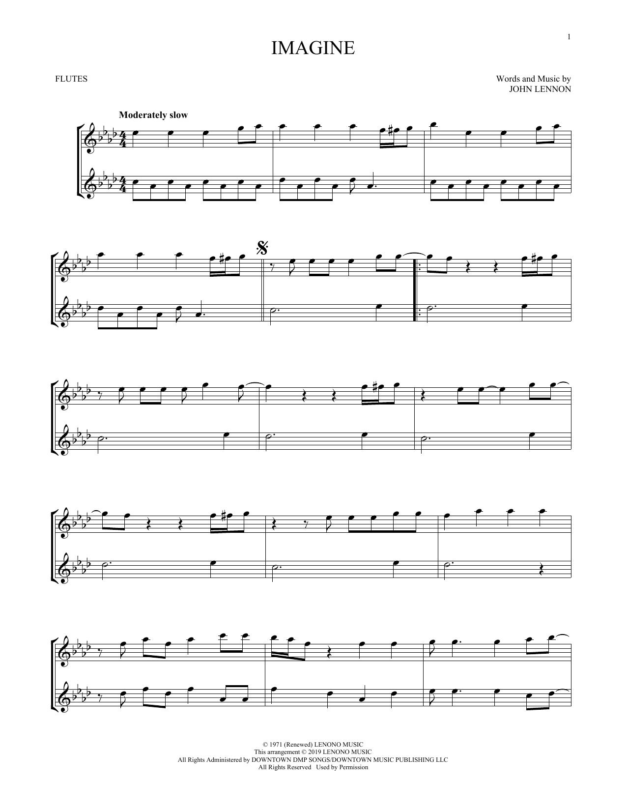 John Lennon Imagine Sheet Music Download Pdf Score 253139