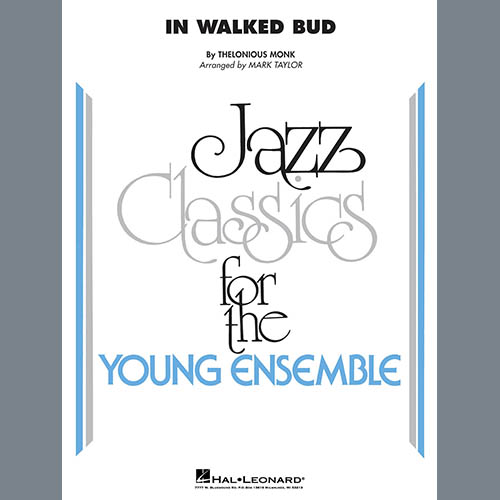 Thelonious Monk, In Walked Bud (arr. Mark Taylor) - Conductor Score (Full Score), Jazz Ensemble