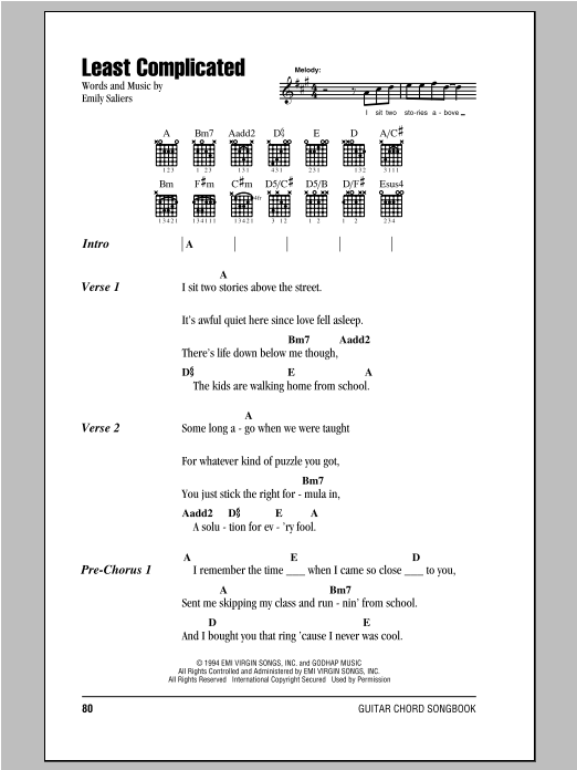 Least Complicated sheet music