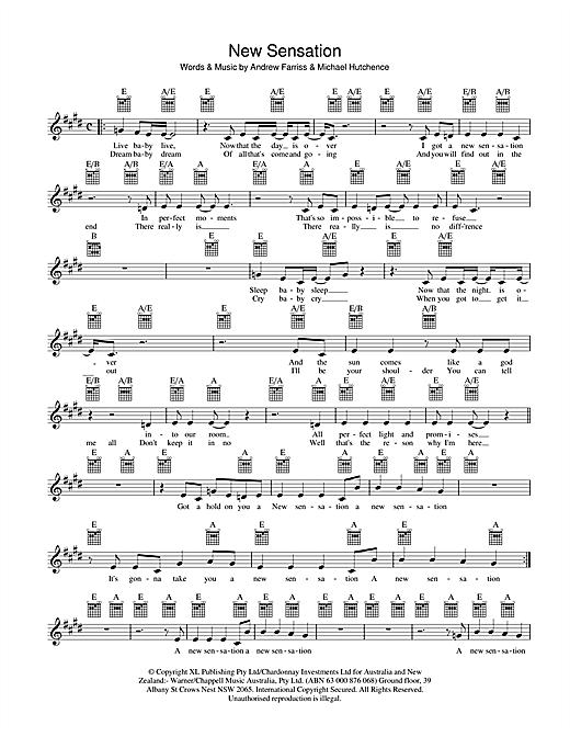 New Sensation sheet music