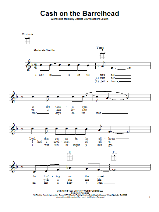 Cash On The Barrelhead sheet music