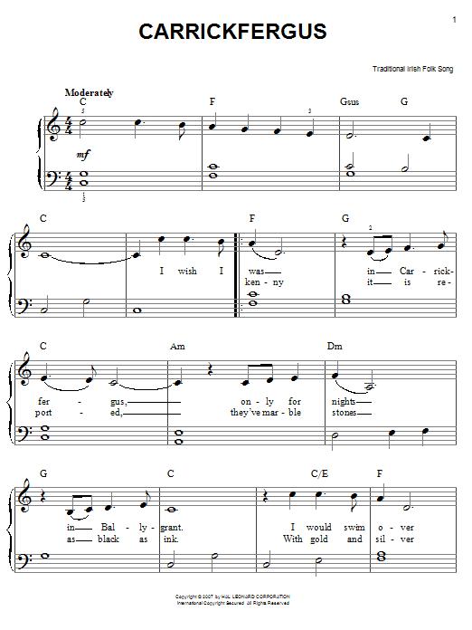 Carrick Fergus sheet music