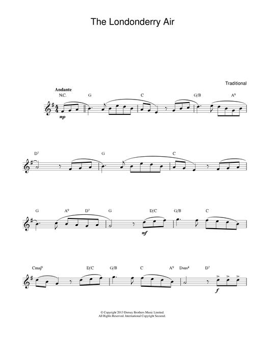 Danny Boy (Londonderry Air) sheet music