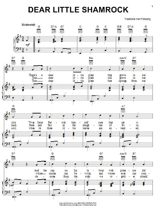 Dear Little Shamrock sheet music