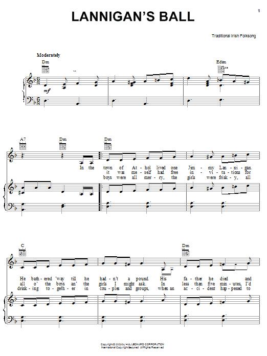 Lannigan's Ball sheet music